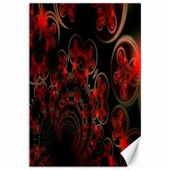 Phenomenon, Orange Gold Cosmic Explosion Canvas 12  X 18  (unframed) by DianeClancy