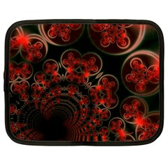 Phenomenon, Orange Gold Cosmic Explosion Netbook Sleeve (xxl) by DianeClancy