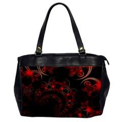 Phenomenon, Orange Gold Cosmic Explosion Oversize Office Handbag (one Side) by DianeClancy