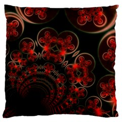Phenomenon, Orange Gold Cosmic Explosion Large Cushion Case (two Sided)  by DianeClancy