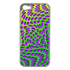 Illusion Delusion Apple Iphone 5 Case (silver) by SaraThePixelPixie