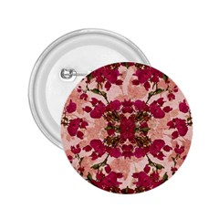 Retro Vintage Floral Motif 2 25  Button by dflcprints