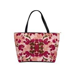 Retro Vintage Floral Motif Large Shoulder Bag by dflcprints