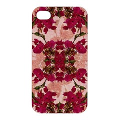 Retro Vintage Floral Motif Apple Iphone 4/4s Hardshell Case by dflcprints
