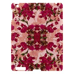 Retro Vintage Floral Motif Apple Ipad 3/4 Hardshell Case by dflcprints