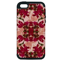 Retro Vintage Floral Motif Apple Iphone 5 Hardshell Case (pc+silicone) by dflcprints