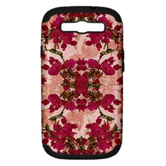 Retro Vintage Floral Motif Samsung Galaxy S Iii Hardshell Case (pc+silicone) by dflcprints