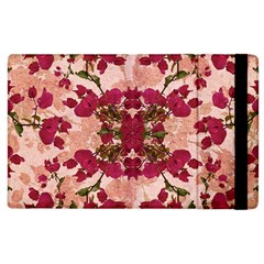 Retro Vintage Floral Motif Apple Ipad 2 Flip Case by dflcprints