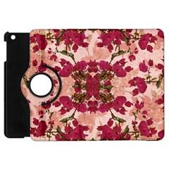 Retro Vintage Floral Motif Apple Ipad Mini Flip 360 Case by dflcprints