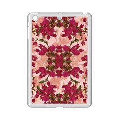 Retro Vintage Floral Motif Apple Ipad Mini 2 Case (white) by dflcprints