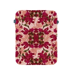 Retro Vintage Floral Motif Apple Ipad Protective Sleeve by dflcprints