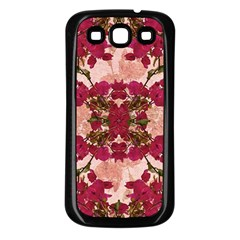 Retro Vintage Floral Motif Samsung Galaxy S3 Back Case (black) by dflcprints