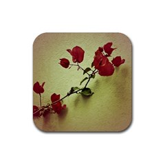 Santa Rita Flower In Warm Colors Wall Photo Rubber Square Coaster (4 Pack) by dflcprints