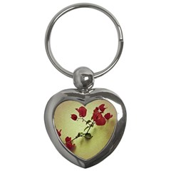 Santa Rita Flower In Warm Colors Wall Photo Key Chain (heart) by dflcprints