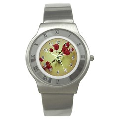 Santa Rita Flower Stainless Steel Watch (slim)