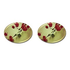 Santa Rita Flower Cufflinks (oval) by dflcprints