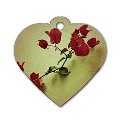 Santa Rita Flower Dog Tag Heart (one Sided)  by dflcprints