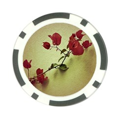 Santa Rita Flower Poker Chip (10 Pack) by dflcprints