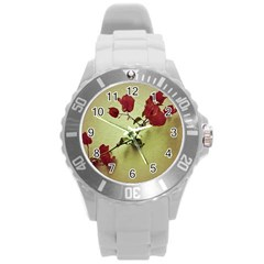 Santa Rita Flower Plastic Sport Watch (large) by dflcprints