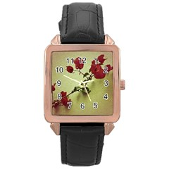 Santa Rita Flower Rose Gold Leather Watch