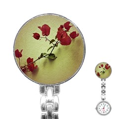 Santa Rita Flower Stainless Steel Nurses Watch by dflcprints