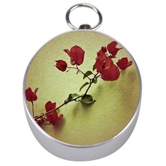 Santa Rita Flower Silver Compass by dflcprints