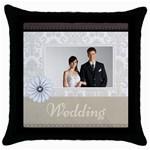 wedding - Throw Pillow Case (Black)