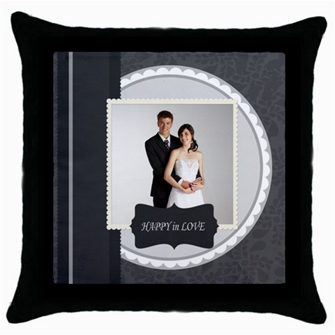 Wedding By Paula Green   Throw Pillow Case (black)   Fwtvenozbmdd   Www Artscow Com Front