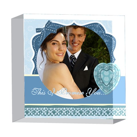 Wedding By Paula Green   5  X 5  Acrylic Photo Block   9v1crfushmvo   Www Artscow Com Front
