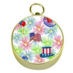 Patriot Fireworks Gold Compass by StuffOrSomething