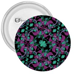 Floral Arabesque Pattern 3  Button by dflcprints