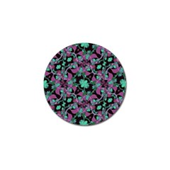 Floral Arabesque Pattern Golf Ball Marker 4 Pack by dflcprints
