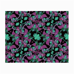 Floral Arabesque Pattern Glasses Cloth (small, Two Sided) by dflcprints