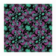 Floral Arabesque Pattern Glasses Cloth (medium, Two Sided) by dflcprints