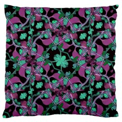 Floral Arabesque Pattern Large Cushion Case (two Sided)  by dflcprints