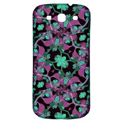 Floral Arabesque Pattern Samsung Galaxy S3 S Iii Classic Hardshell Back Case by dflcprints