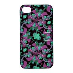 Floral Arabesque Pattern Apple Iphone 4/4s Hardshell Case With Stand by dflcprints