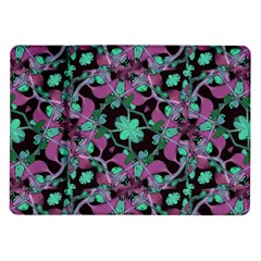 Floral Arabesque Pattern Samsung Galaxy Tab 10 1  P7500 Flip Case by dflcprints