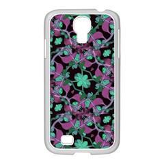 Floral Arabesque Pattern Samsung Galaxy S4 I9500/ I9505 Case (white)
