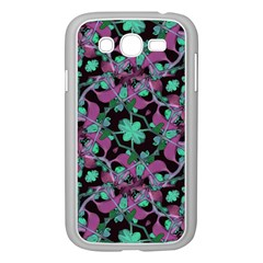 Floral Arabesque Pattern Samsung Galaxy Grand Duos I9082 Case (white) by dflcprints
