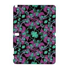 Floral Arabesque Pattern Samsung Galaxy Note 10 1 (p600) Hardshell Case by dflcprints
