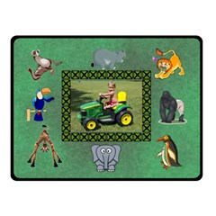 Zoo Blanket, Double Layer(small) By Joy Johns   Double Sided Fleece Blanket (small)   3jguc58mk5jc   Www Artscow Com 45 x34 Blanket Front