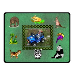 Zoo Blanket, Double Layer(small) By Joy Johns   Double Sided Fleece Blanket (small)   3jguc58mk5jc   Www Artscow Com 45 x34 Blanket Back