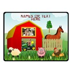 Farm Blanket, double layer(small) - Double Sided Fleece Blanket (Small)