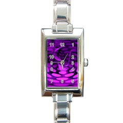 Abstract In Purple Rectangular Italian Charm Watch by FunWithFibro