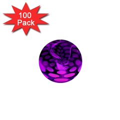 Abstract In Purple 1  Mini Button Magnet (100 Pack) by FunWithFibro