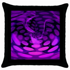 Abstract In Purple Black Throw Pillow Case by FunWithFibro