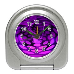 Abstract In Purple Desk Alarm Clock by FunWithFibro