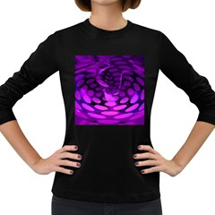 Abstract In Purple Women s Long Sleeve T-shirt (Dark Colored)