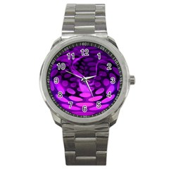 Abstract In Purple Sport Metal Watch by FunWithFibro